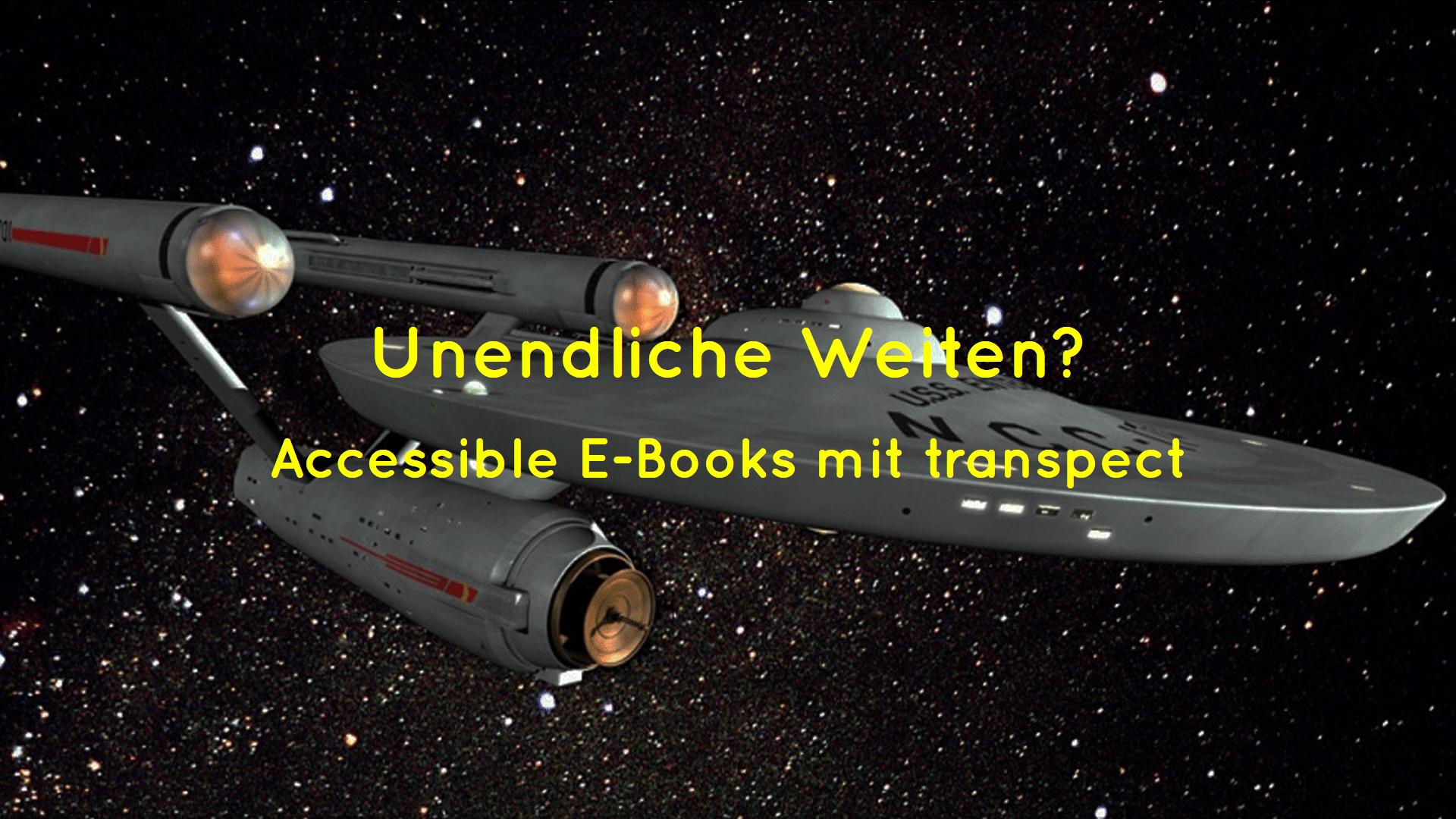 Titelbild mit Raumschiff Enterprise